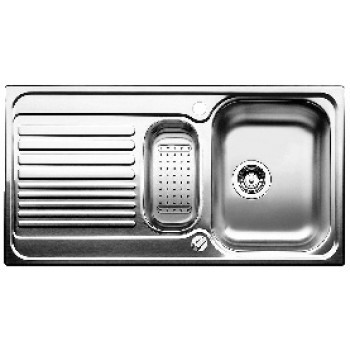Blanco Toga 6 S Basic Küchenspüle 512639, Edelstahl Naturfinish, inkl. Resteschale