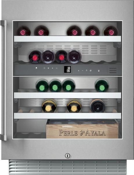 Gaggenau RW404261 Weinklimaschrank Serie 200 Unterbaufähig, Glastür mit Edelstahlrahmen Nischenbreit