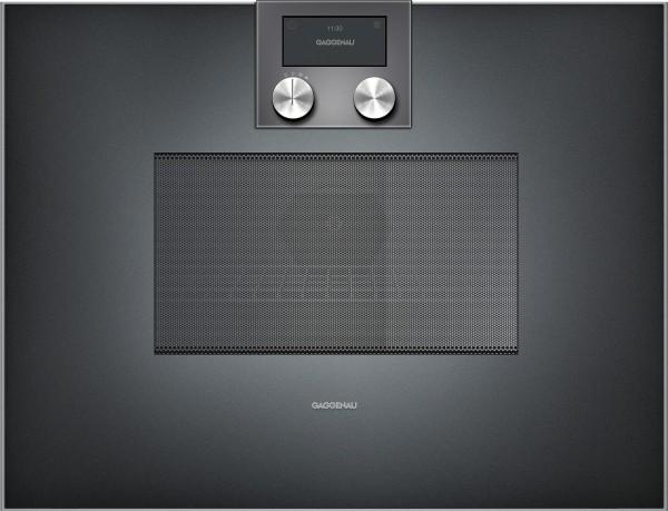 Gaggenau BM450100 Mikrowellen-Backofen Serie 400 Vollglastür in Gaggenau Anthrazit Rechtsanschlag